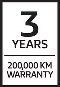 3 Years 200 000 Km Warranty