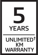 5 Years Unlimited Km Warranty