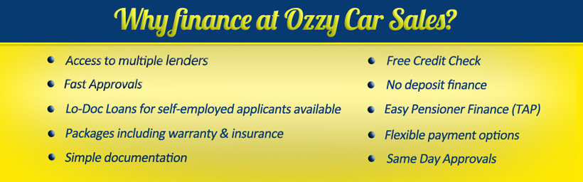 Finance at Ozzy Car Sales
